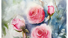 Pink Ethereal Roses (SOLD)