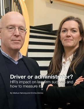 Driver or administrator? HR's impact on law firm success and how to