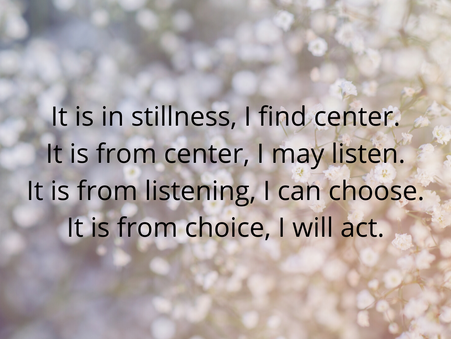 In Stillness toward Action
