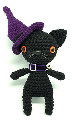 Black Halloween Witch Cat