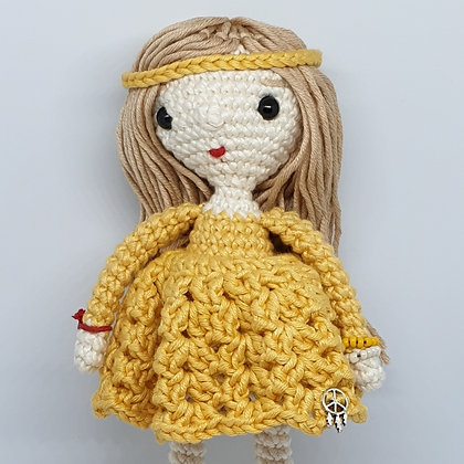 Hippie Doll in Yellow Dress