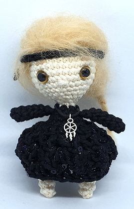Hippie Doll with Mohair Blond Hair