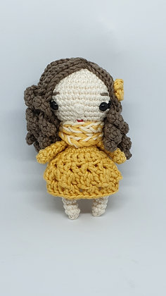 Mini Doll in Yellow Dress