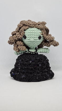 Handmade Amigurumi Witch - Elegant Little Doll - Halloween Home Decoration
