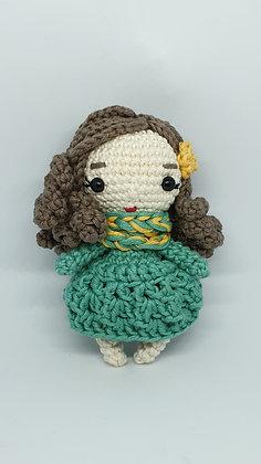 Mini Doll in Green Dress