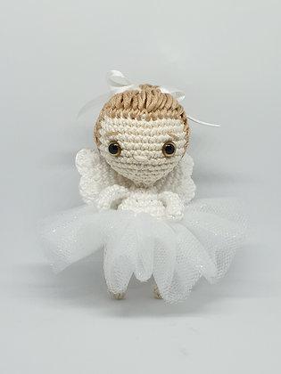 Mini Ballerina Angel in White Tutu