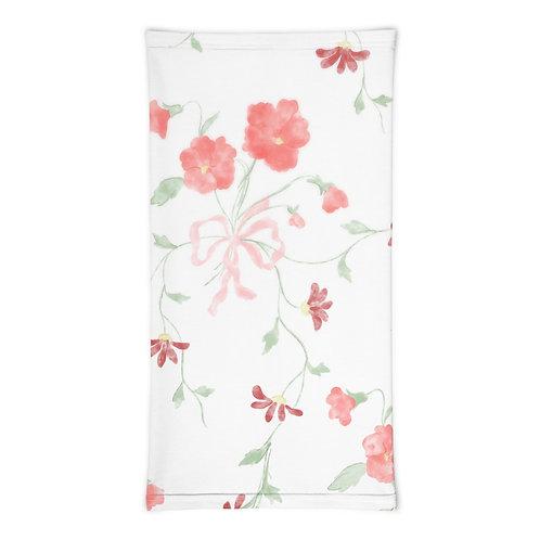 Spring Pink Floral Neck Gaiter