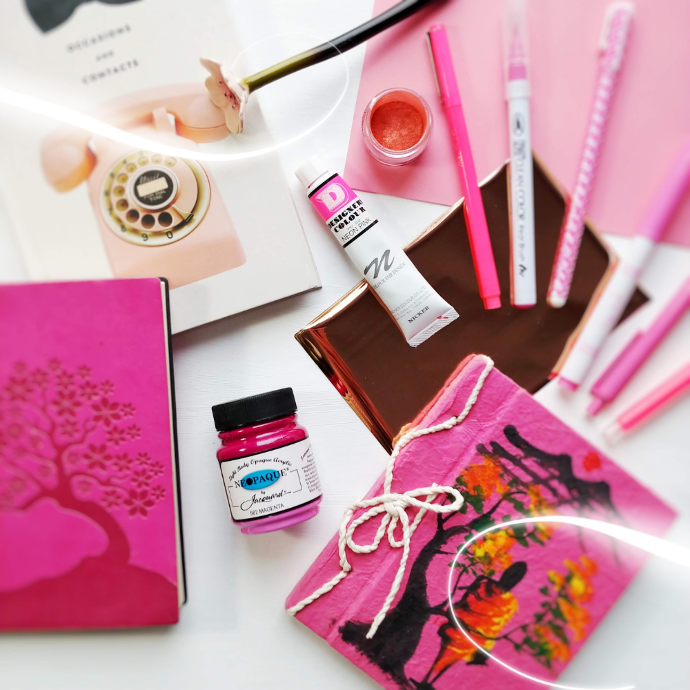 Pink Art and Calligraphy Supplies