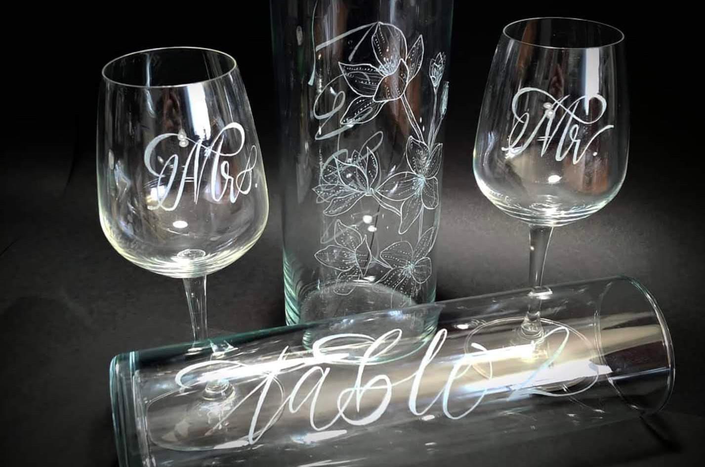 Wine Glass & Vase Engraving