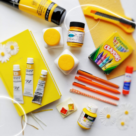 Yellow Art and Calligraphy Supplies