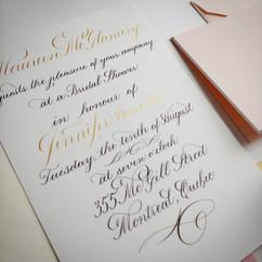 Bridal Shower Invitation - details