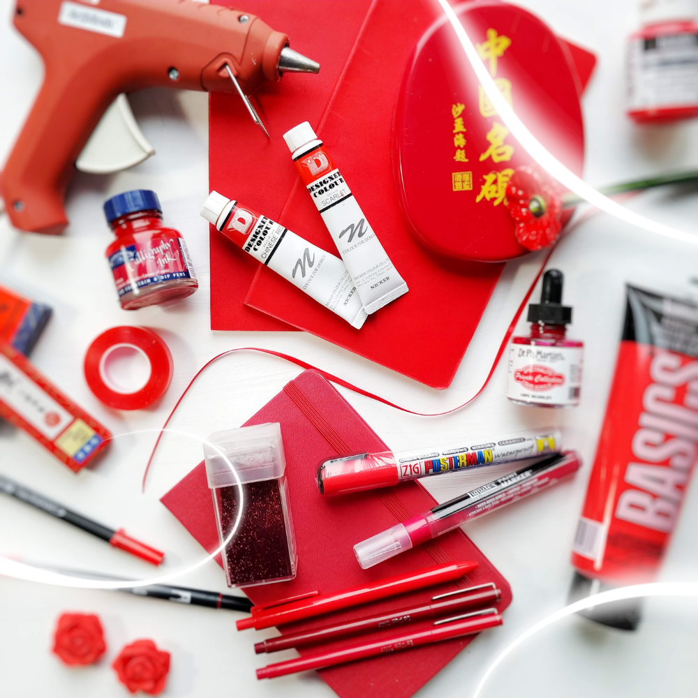 Red Art and Calligraphy Supplies