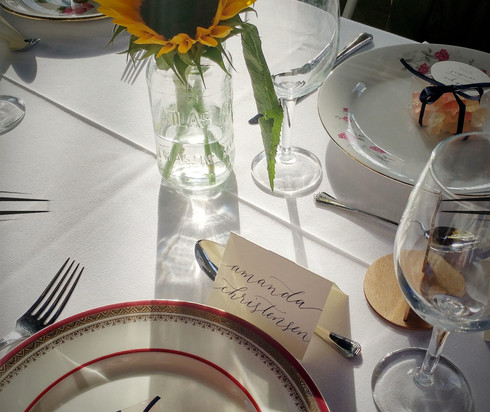 Wedding Place Card Tablescape