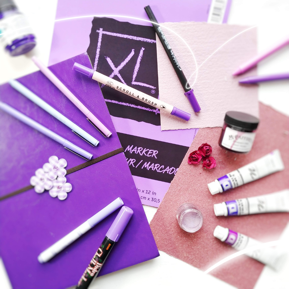 Purple Art and Calligraphy Supplies