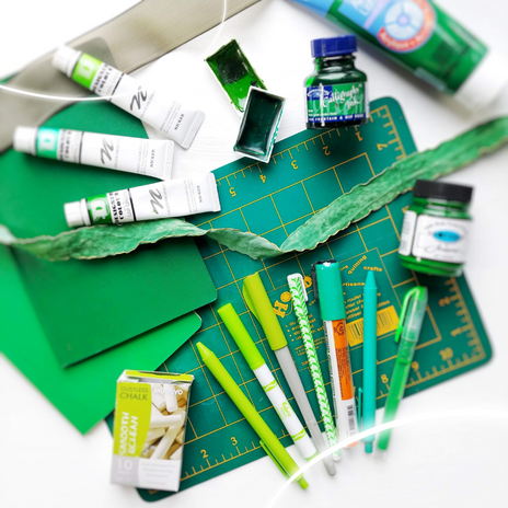 Green Art and Calligraphy Supplies