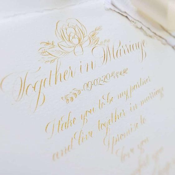 Wedding Vows Keepsake
