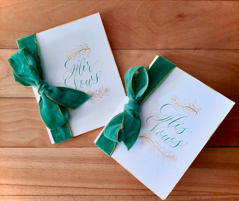 His and Her Vow Booklet