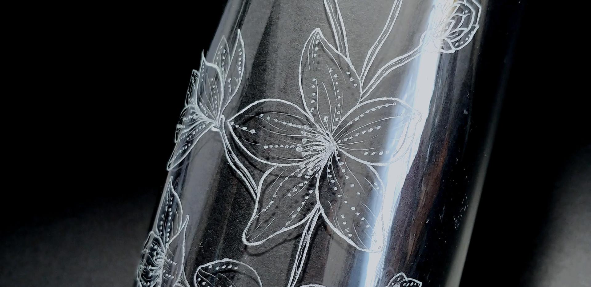 Floral Engraved Vase