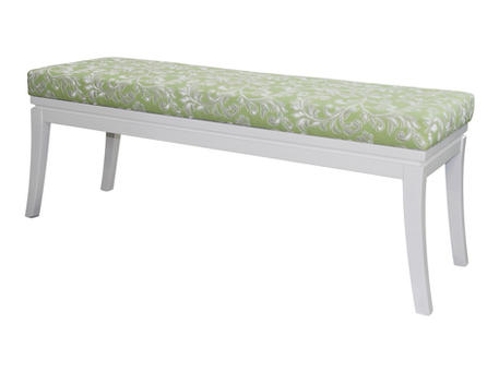 Banquettes benches and chaise White base