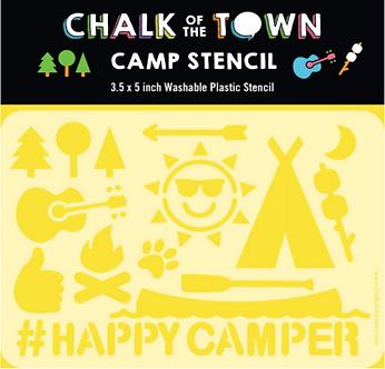 Happy Camper Stencil
