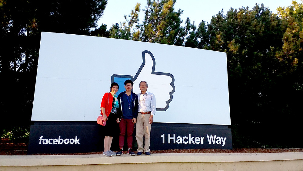 Lan Nguyen gave his parents the very first tour at Facebook office in Silicon Valley