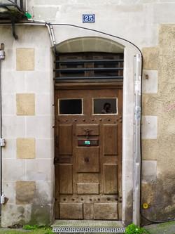 Porte d'entrée de maison particulière