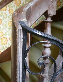Détail de rampe d'escalier