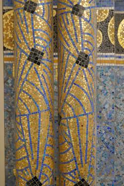 Décor de mosaïques, style Art-Déco
