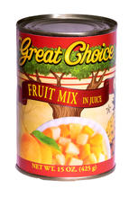 Fruit Mix (Peaches, pears, and pineapple) in Juice #300 can