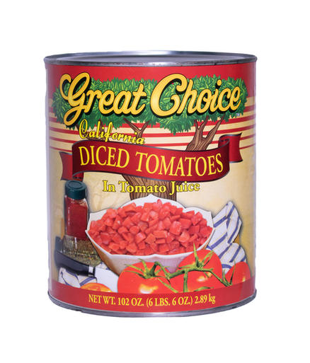 Diced Tomatoes in Tomato Juice #10 can