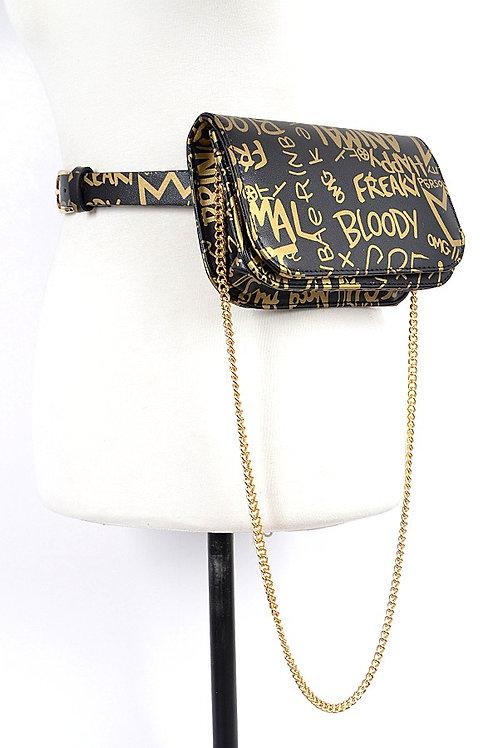 Graffiti Waist Belt Bag