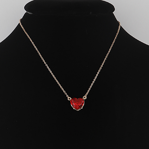 Jeweled Heart Necklace