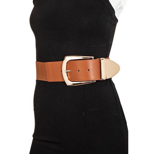 Oversized Wide Faux Leather Belt