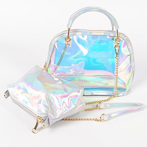 Clear Bag W/Metal Handle
