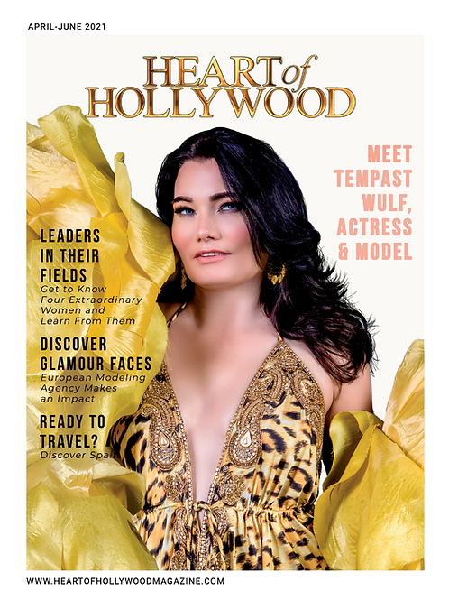 Heart Of Hollywood Magazine-Cover Model Tempast Wulf -Spring Issue
