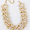 Thumbnail: Oversized Stone Chain Necklace