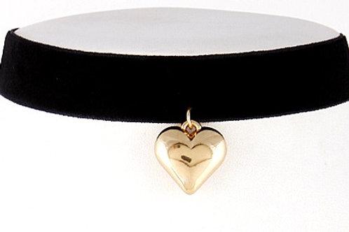 Heart Design Pendant Choker Necklace