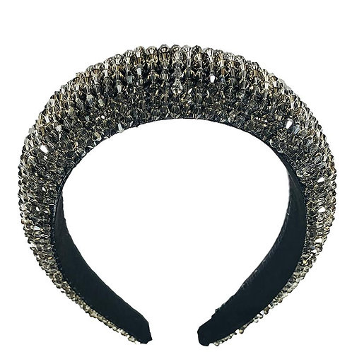 Shimmering Grey Crystal Headband