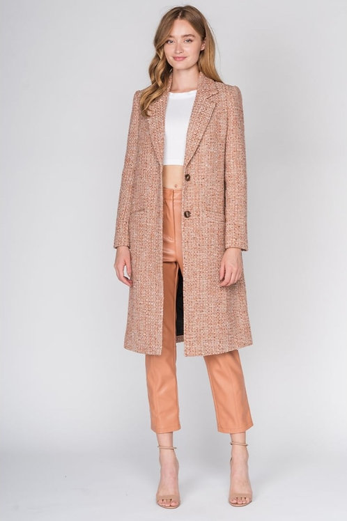 Slim Fit Coat with Pockets