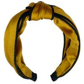 Sleek Silk Mustard Headband