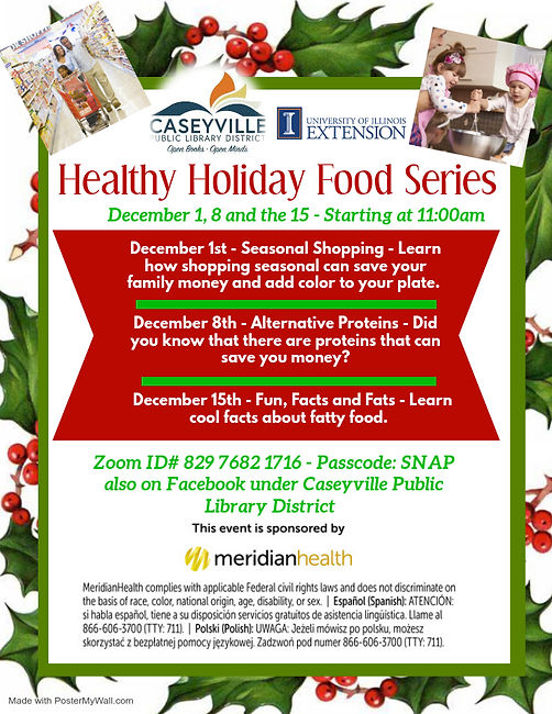 Healthy Holiday Series- Made with Poster