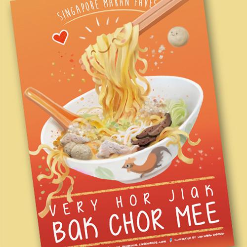 Bak Chor Mee Postcard $3.90