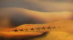 Facebook - Pattern in the Desert~speed paint 20mins  The Good Shepard lead the w