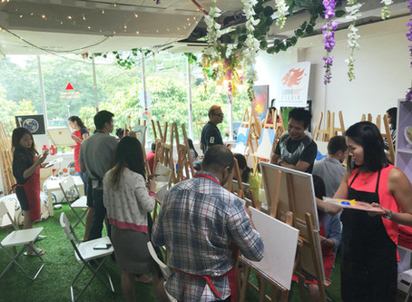 An amazing Art Jam with the Amazon Team!