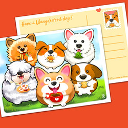 Have A Wangderfood Day Postcard $4.90