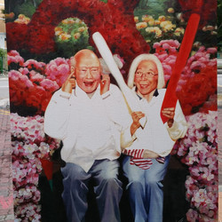 Lee Kuan Yew and his wife Tribute
