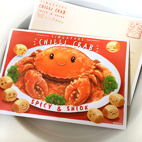 Chilli Crab Postcard $5.90