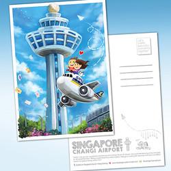 Changi AIrport Postcard $5.90