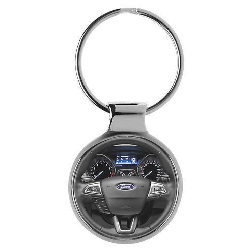 Geschenk für Ford Focus Fans Cockpit Schlüsselanhänger 10126