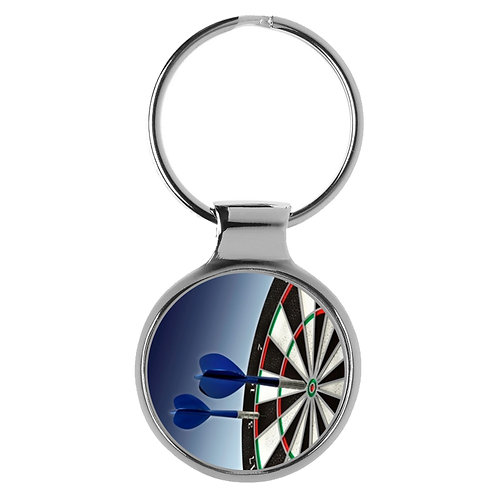 Dartpfeile auf Dartscheibe Geschenk Schlüsselanhänger 9605